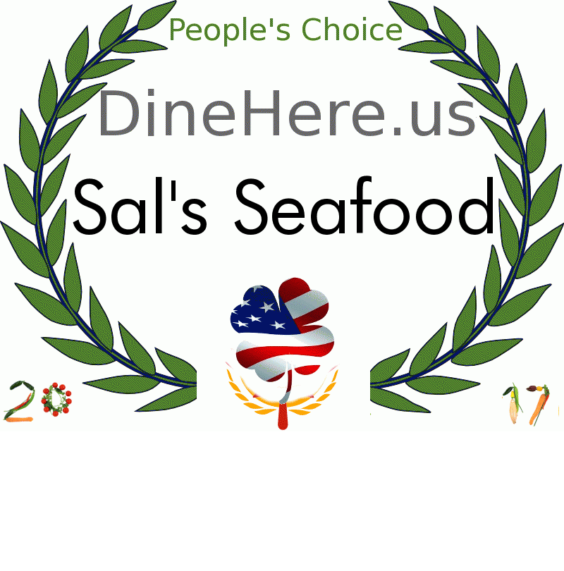 Sal's Seafood DineHere.us 2017 Award Winner